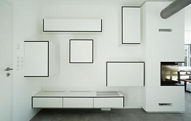 Designer Wohnwand